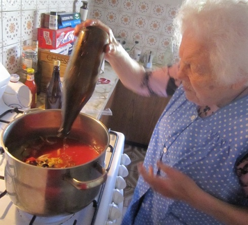Nonna cooking