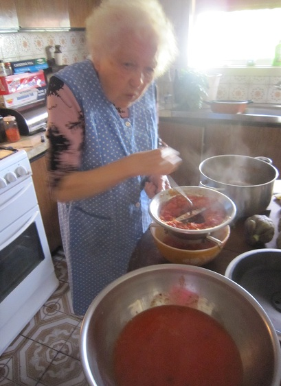 Nonna with mouli and finished sauce