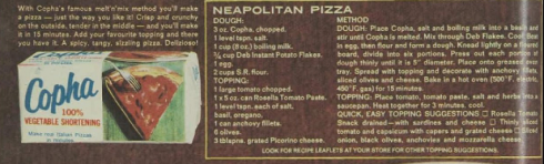 Instructions for Copha Pizza