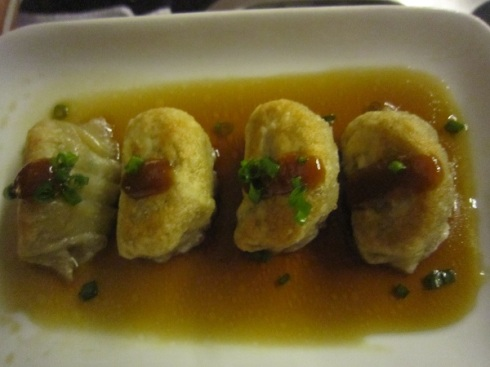 Pumpkin gyoza at Yumi, Phnom Penh