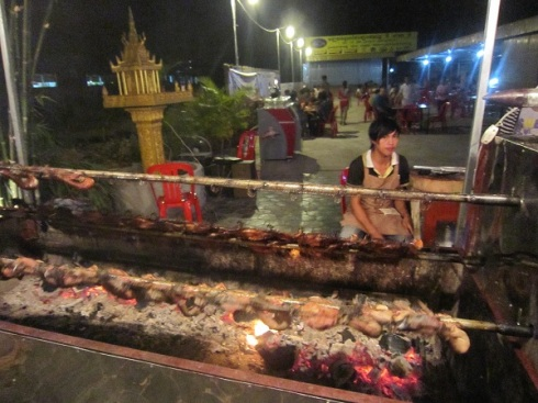 Duck on Spit in Siem Reap