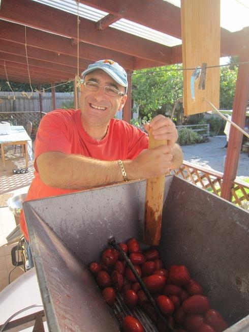 Squashing tomatoes