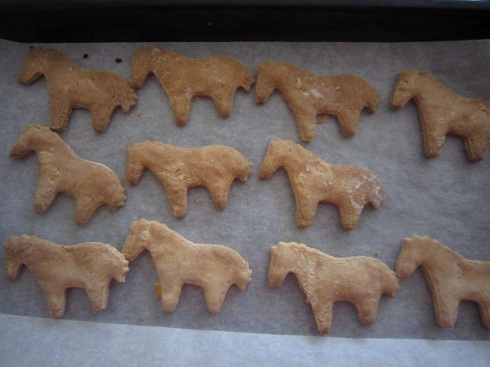 Cooked horse biscuits