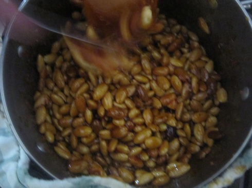 Almonds cooking