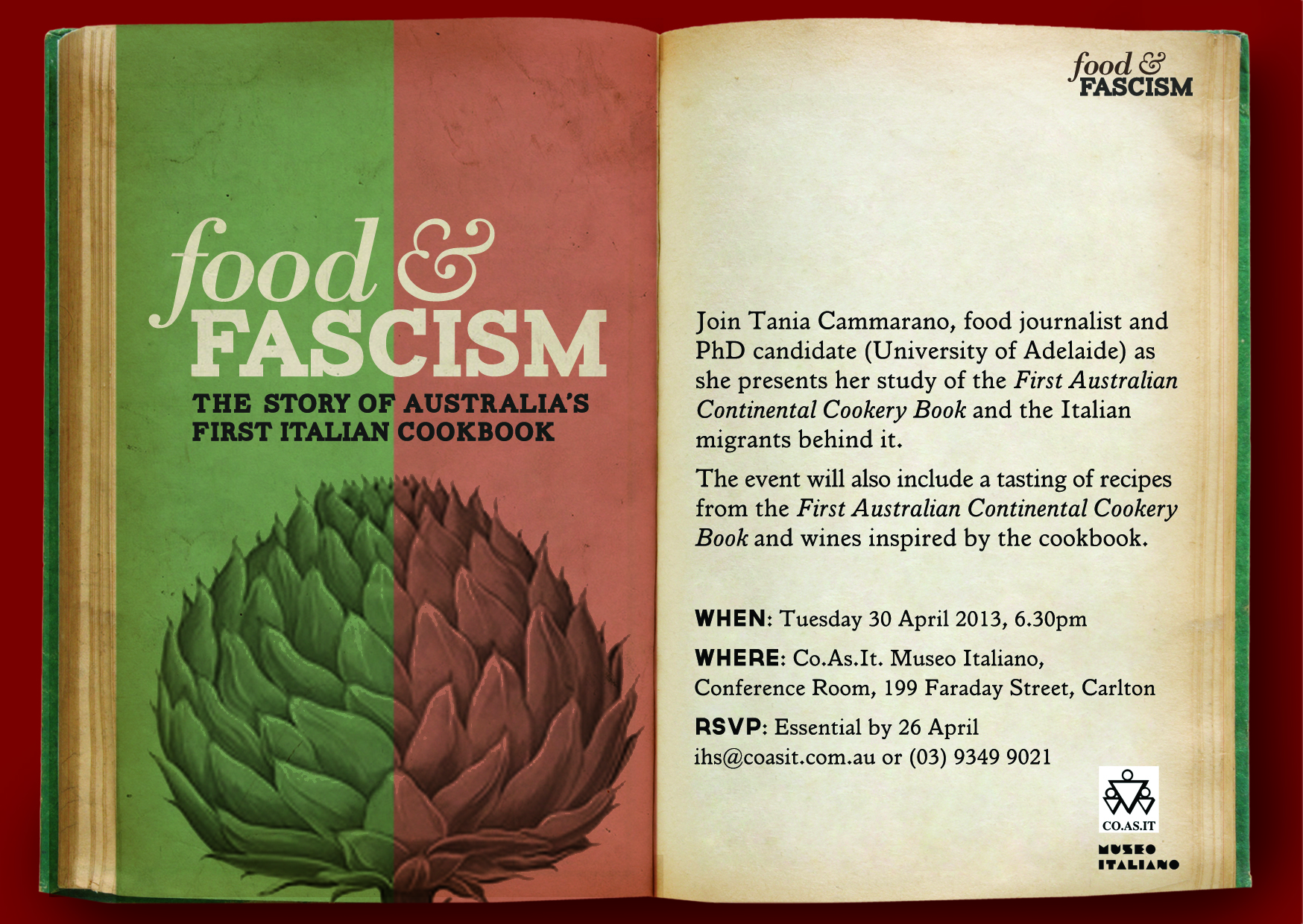 First australian continental cookbook lamingtons lasagna food and fascism talk at museo italiano forumfinder Images